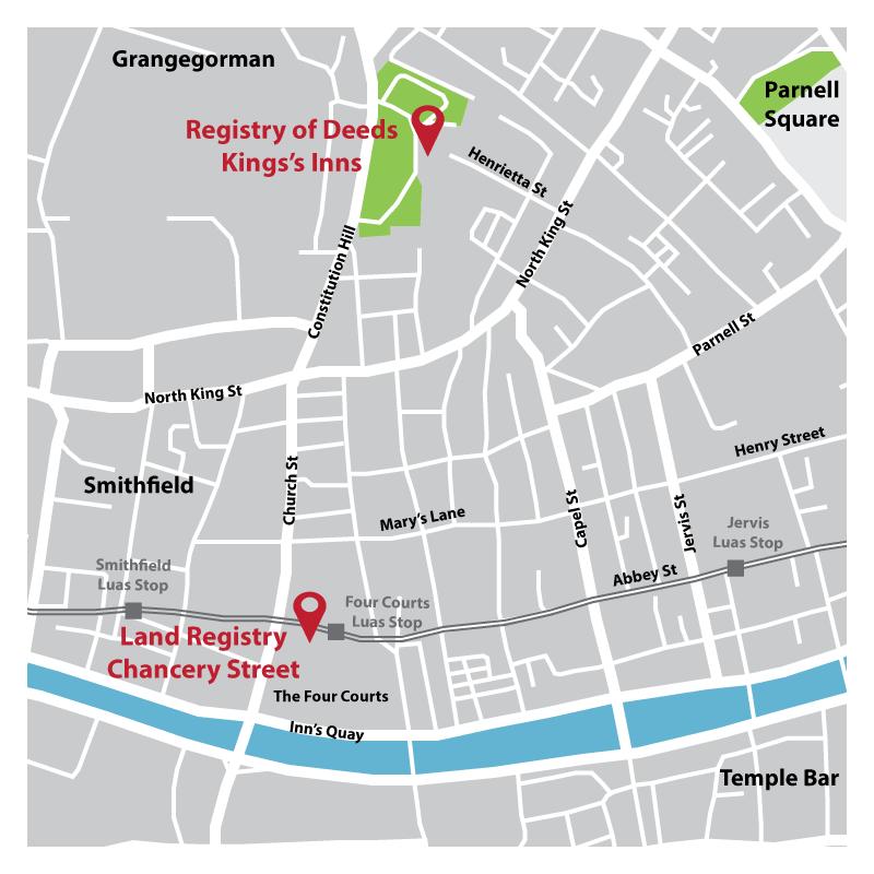 Map Of Dublin 7 Ireland.Prai Dublin Offices Property Registration Authority